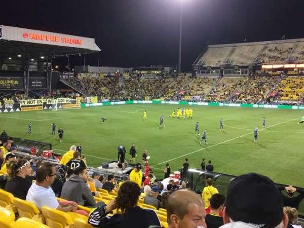 Mapfre Stadium, section: 126, row: 22, seat: 1