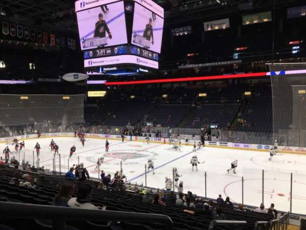 Nationwide Arena, section: 112, row: W, seat: 26
