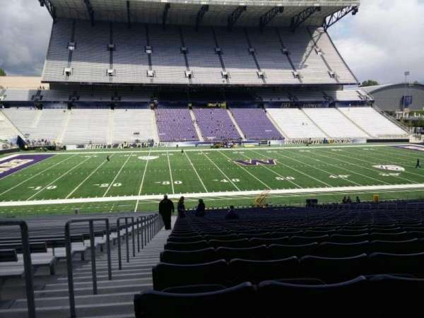 Husky Stadium, section: 107, row: 40, seat: 25