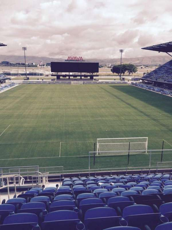Avaya Stadium, section: 117, row: 17, seat: 16