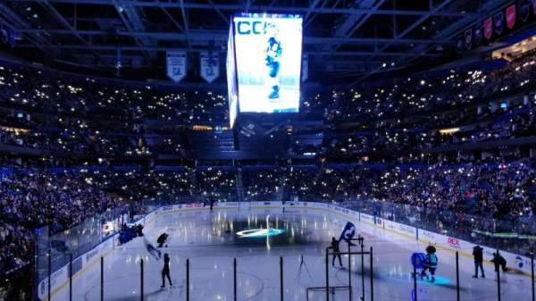 Amalie Arena, section: 124, row: U, seat: 9