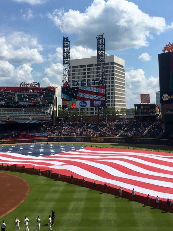 SunTrust Park, section: 216, row: 6, seat: 4