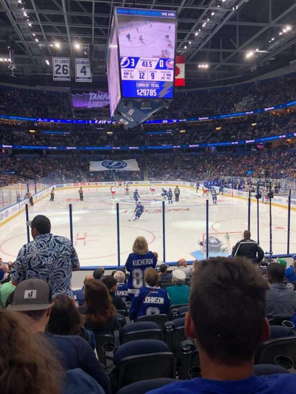 Amalie arena, section: 109, row: N, seat: 12