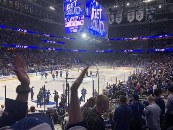 Amalie Arena, section: 122, row: R, seat: 1