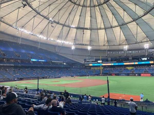 Tropicana Field, section: 128, row: BB, seat: 16