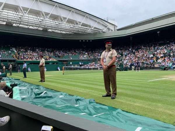Wimbledon, Centre Court, section: 111, row: A, seat: 9