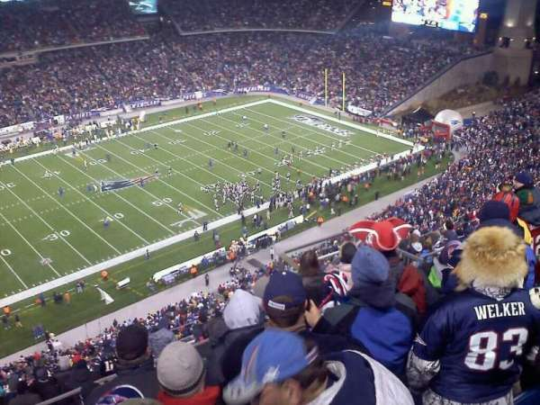 Gillette Stadium, section: 313, row: 14