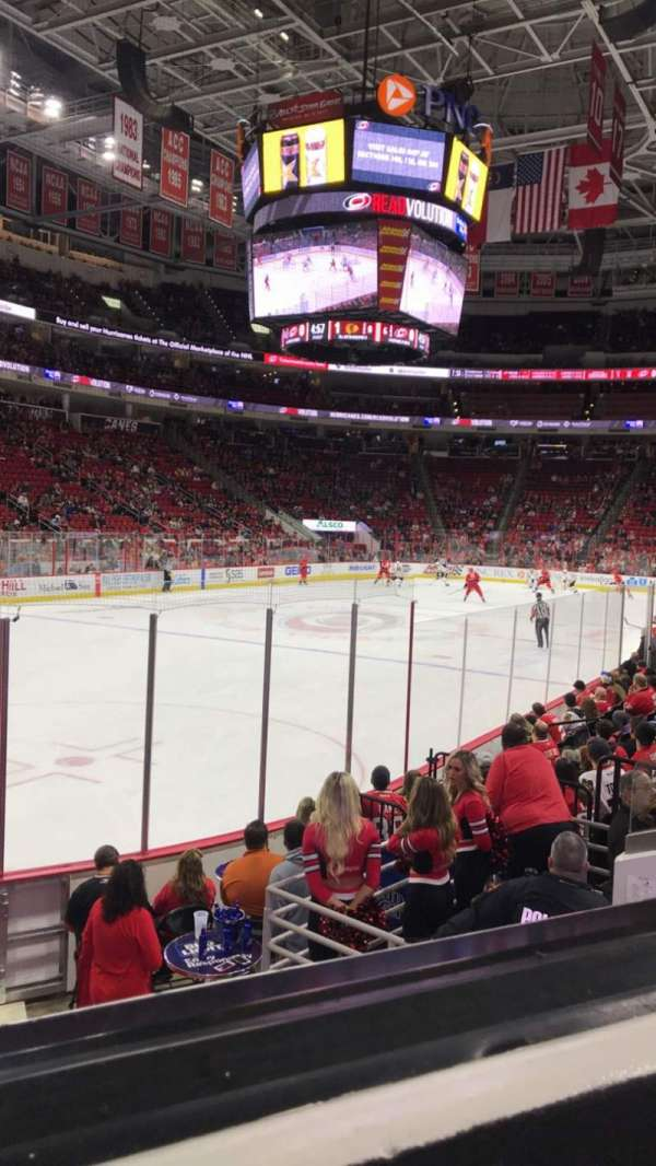 PNC Arena, section: 108, row: K, seat: 11