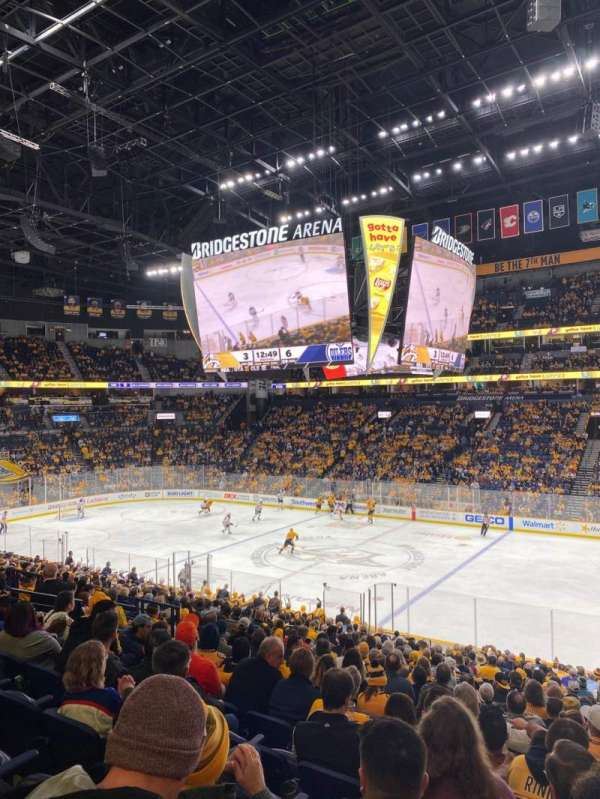 Bridgestone Arena, section: 117, row: P, seat: 8