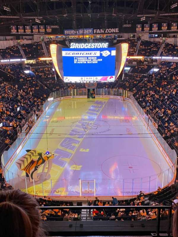 Bridgestone Arena, section: 301, row: C, seat: 12
