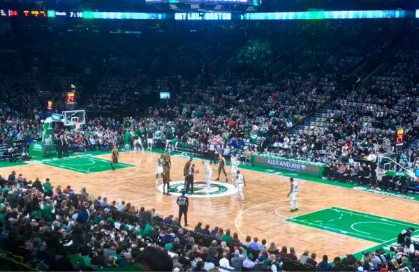 TD Garden, section: Loge 9, row: 26, seat: 24