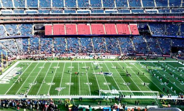 Gillette Stadium, section: 333, row: 4, seat: 1