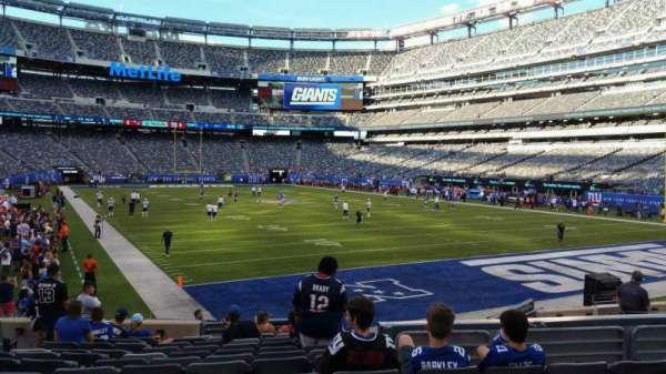 MetLife Stadium, section: 129, row: 15, seat: 19