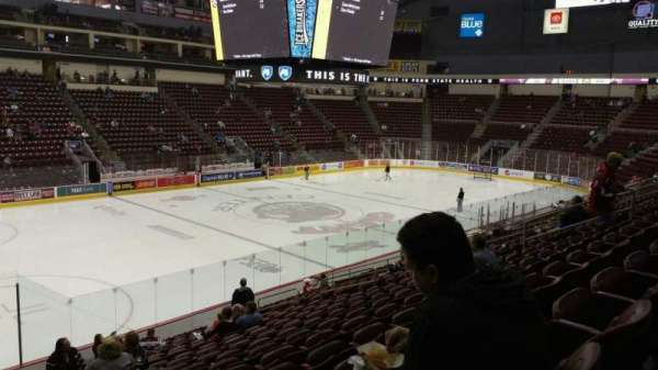 Giant Center, section: 105, row: S, seat: 19