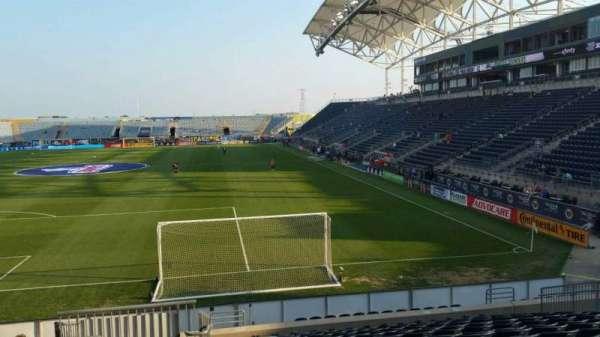 Talen Energy Stadium, section: 115, row: R, seat: 20