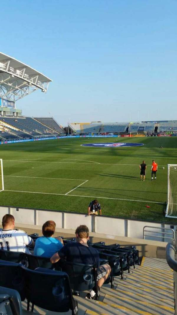 Talen Energy Stadium, section: 116, row: K, seat: 1