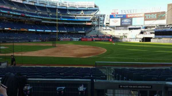 Yankee Stadium, section: 114B, row: 3, seat: 1