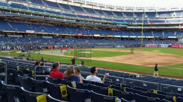 Yankee Stadium, section: 114A, row: 7, seat: 7