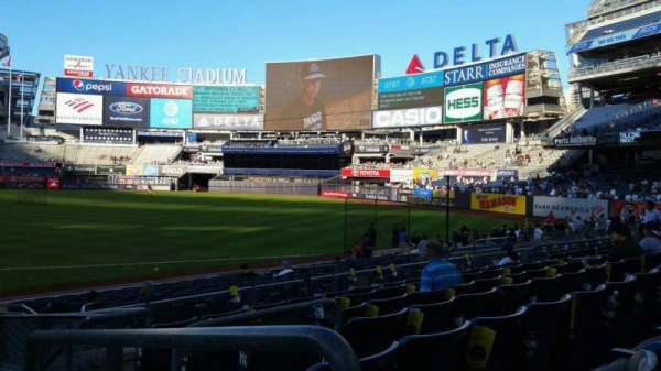 Yankee Stadium, section: 114A, row: 7, seat: 1