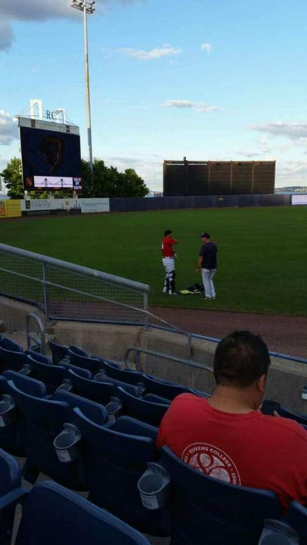 Richmond County Bank Ballpark, section: 1, row: F, seat: 1