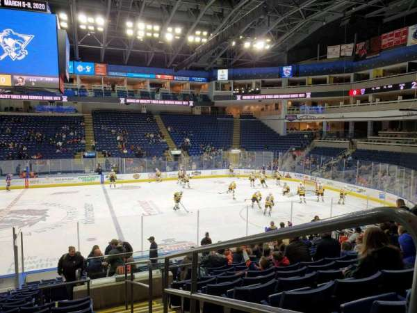 Webster Bank Arena, section: 105, row: N, seat: 1