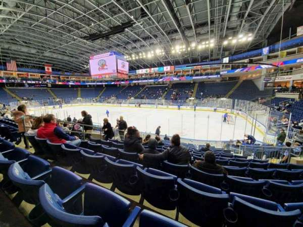 Webster Bank Arena, section: 107, row: K, seat: 11