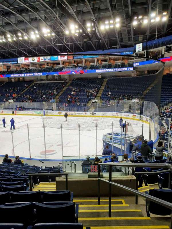 Webster Bank Arena, section: 107, row: K, seat: 1