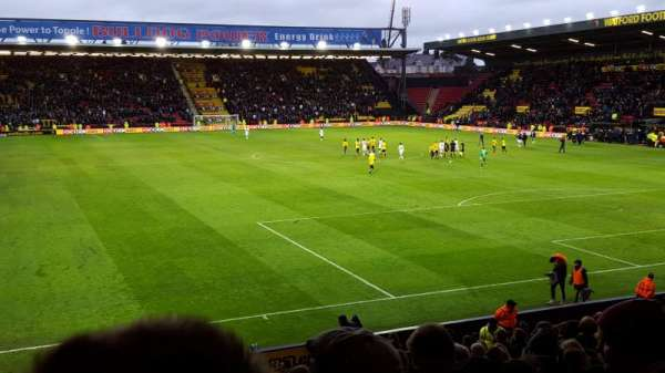 Vicarage Road, section: RS1, row: A, seat: 22