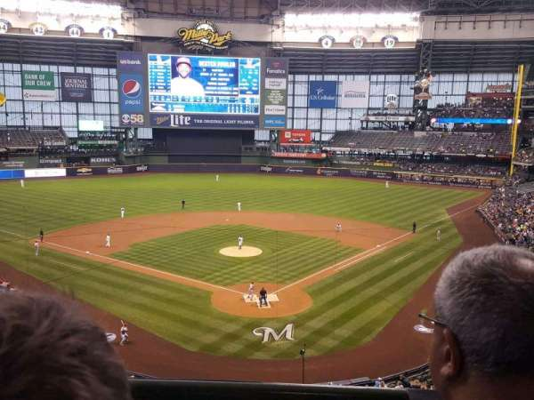 Miller Park, section: Club Infield Box 331, row: 2, seat: 2