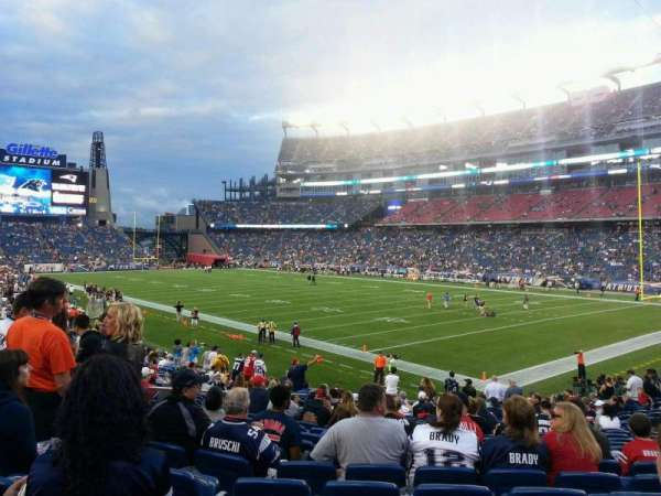 Gillette Stadium, section: 125, row: 23, seat: 7