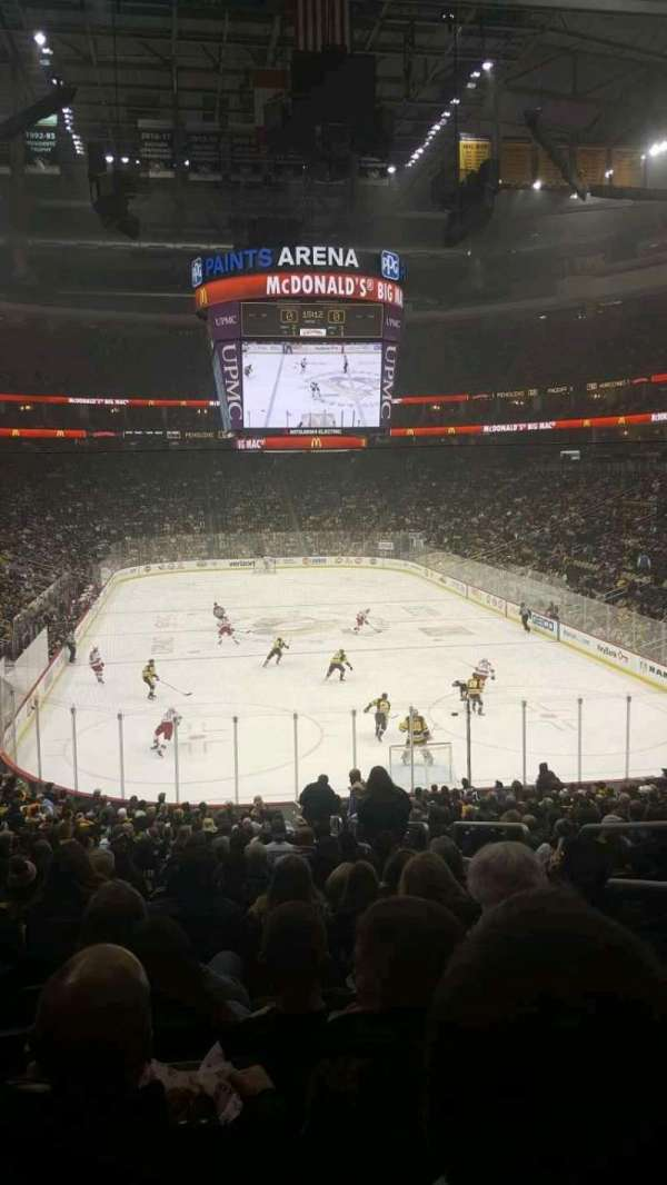 PPG Paints Arena, section: 119, row: AA, seat: 4