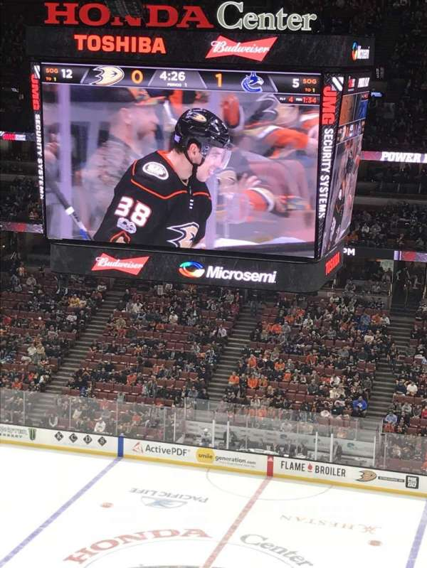 Honda Center, section: 410, row: K, seat: 9