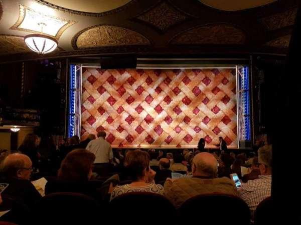 Brooks Atkinson Theatre, section: orchestra, row: Q, seat: 104