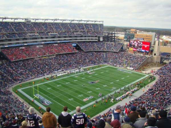 Gillette Stadium, section: 317, row: 23, seat: 16