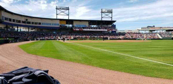 CoolToday Park, section: 102, row: 1, seat: 8