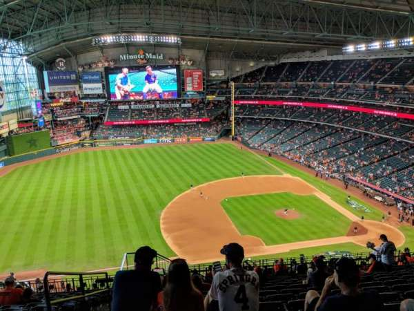 Minute Maid Park, section: 411, row: 12, seat: 2