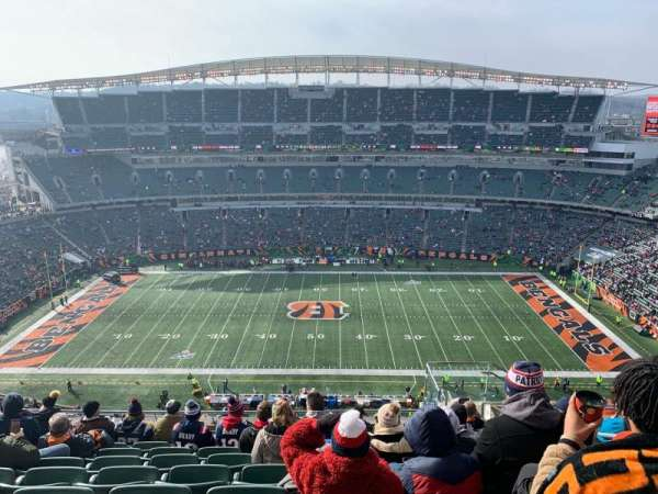 Paul Brown Stadium, section: 340, row: 23, seat: 6