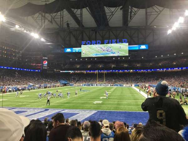 Ford Field, section: 118, row: 12, seat: 11