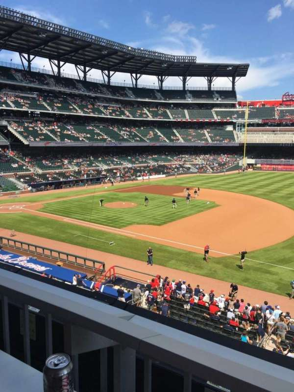 SunTrust Park, section: 216, row: 1, seat: 11