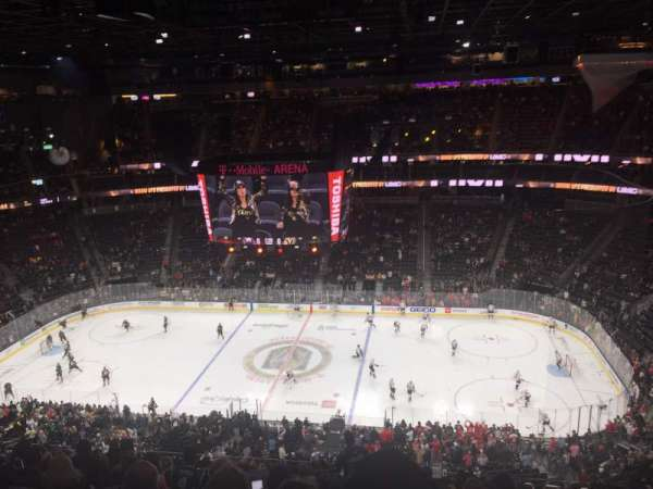 T-Mobile Arena, section: 221, row: M