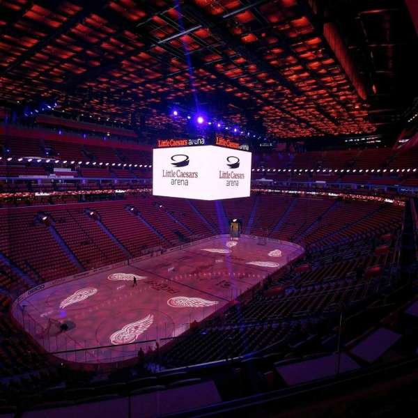 Little Caesars Arena, section: M33, row: 2, seat: 11