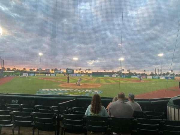 Jackie Robinson Ballpark, section: A, row: 4, seat: 5