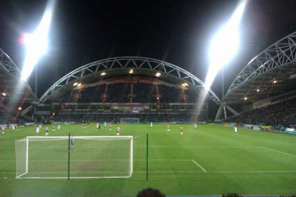 John Smith's Stadium, row: K, seat: 69