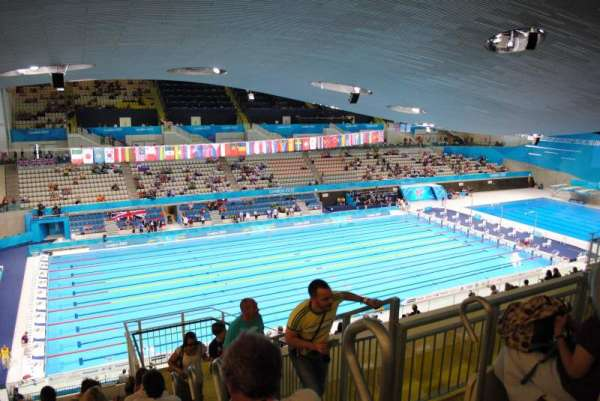 London Aquatics Centre, section: 313, row: 21, seat: 162