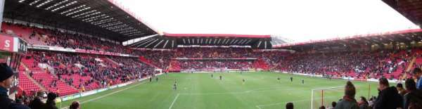 The Valley, section: South Stand Block B, row: M, seat: 104
