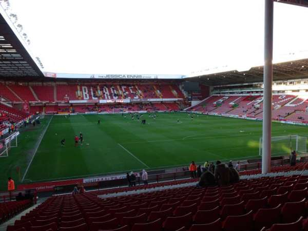 Bramall Lane, section: Kop Stand Gangway B, row: DD, seat: 45