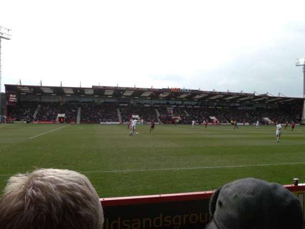 Vitality Stadium, section: 22, row: C, seat: 192