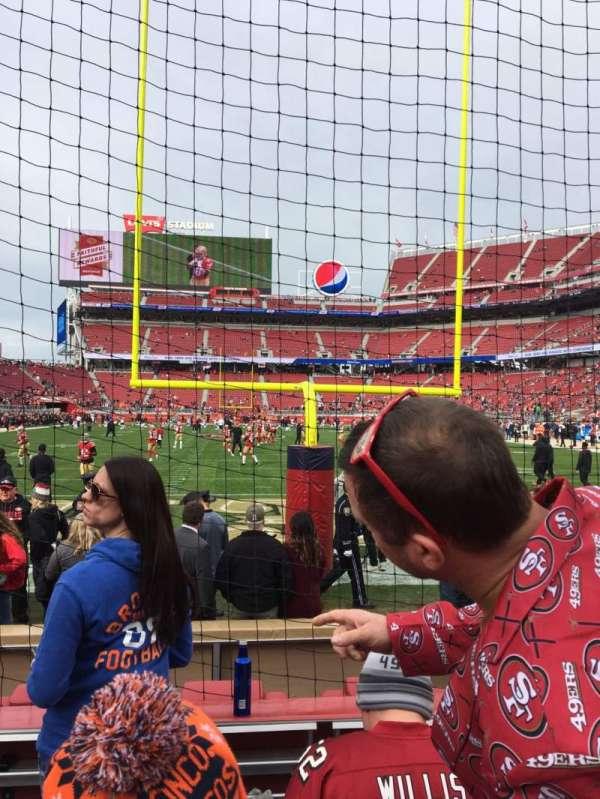 Levi's Stadium, section: 127, row: 1, seat: 15