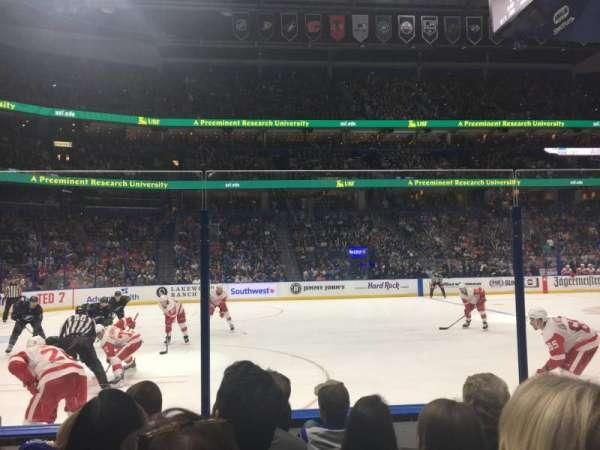 Amalie Arena, section: 118, row: E, seat: 5