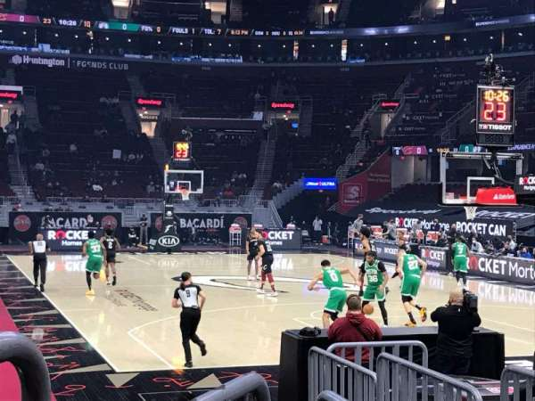 Rocket Mortgage FieldHouse, section: 116, row: 3, seat: 2